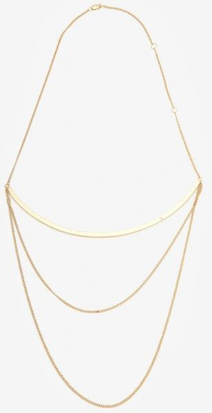Jennifer Zeuner Curved Bar Chain Necklace - Lyst