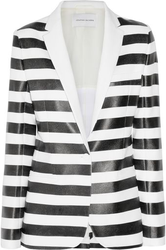 Jonathan Saunders Louise Striped Crepe Jacket - Lyst