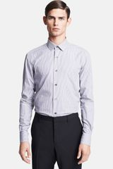 Lanvin Micro Stripe Dress Shirt - Lyst