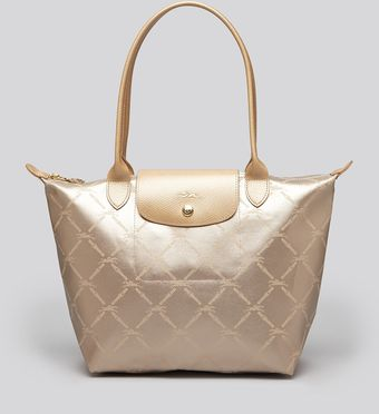 Longchamp Tote Lm Metal Medium Shoulder - Lyst