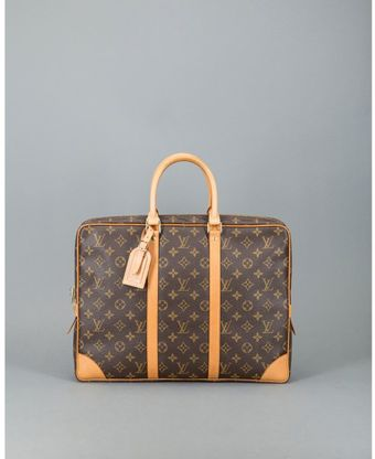 Louis Vuitton Preowned Brown Monogram Canvas Porte Documents Voyage Briefcase - Lyst