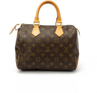 Louis Vuitton Preowned Brown Monogram Canvas Speedy 25 Bag - Lyst