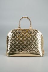 Louis Vuitton Pre Owned Gold Monogram Mirror Alma Gm Vintage Bag - Lyst