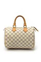 Louis Vuitton White Damier Azur Canvas Speedy 25 Bag - Lyst