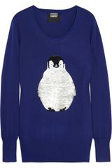 Markus Lupfer Penguin Sequined Merino Wool Sweater - Lyst
