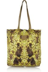 McQ by Alexander McQueen Printed Nylon and Leather Packaway Shopper - Lyst