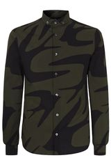 McQ by Alexander McQueen Oversized Swallow Print Shirt - Lyst