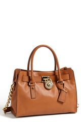 Michael by Michael Kors Hamilton Leather Satchel Medium - Lyst