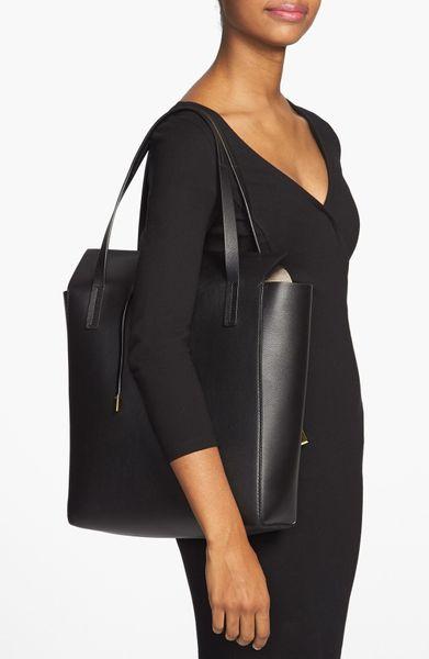 Get Michael Kors Miranda Totes - Bags Michael Kors Miranda Leather Tote Black 1
