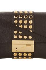 Michael Kors Collection Gia Studded Clutch with Lock - Lyst