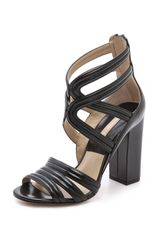 Michael Kors Collection Preston Cross Strap Sandals - Lyst