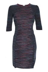 Missoni 3/4 Sleeve Fitted Dress - Lyst