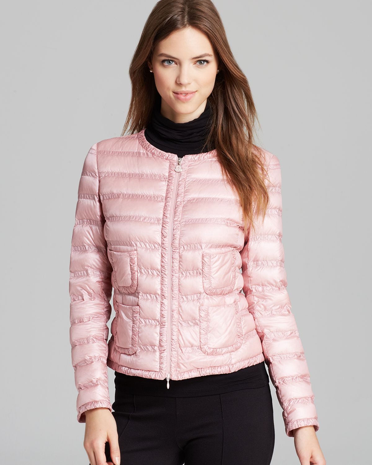 Moncler Lissy Lightweight Down Jacket in Pink | Lyst