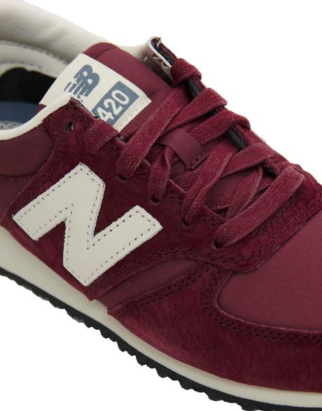 Uk Womens New Balance 420 - Shoes New Balance 420 Burgundy Suede Sneakers