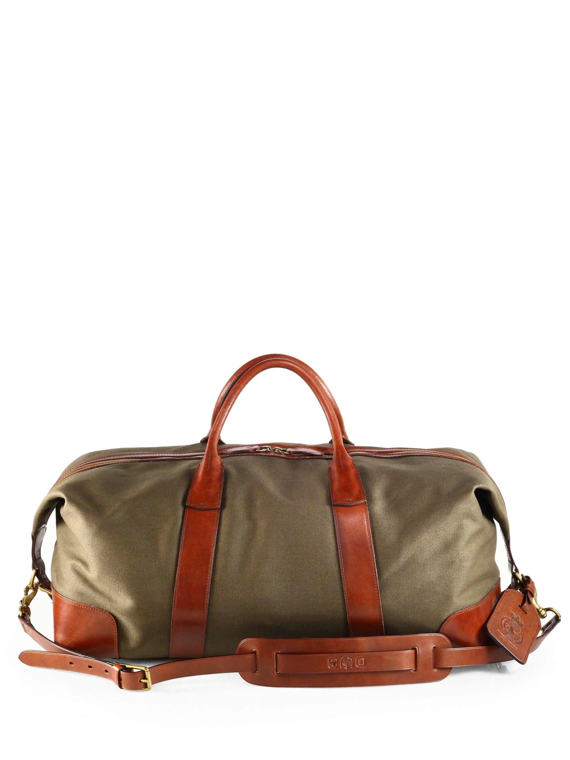 ea261992507a Lyst - Polo Ralph Lauren Waxed Twill Duffle Bag in Green for Men