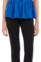 Prabal Gurung Sleeveless Peplum Top - Lyst