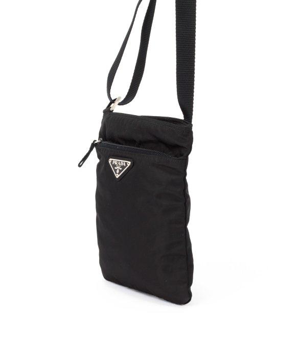 063dfef05d ... cheap prada preowned black nylon flat messenger bag in black lyst 12ff1  349fc