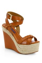 Ralph Lauren Collection Filipina Leather Espadrille Wedge Sandals - Lyst