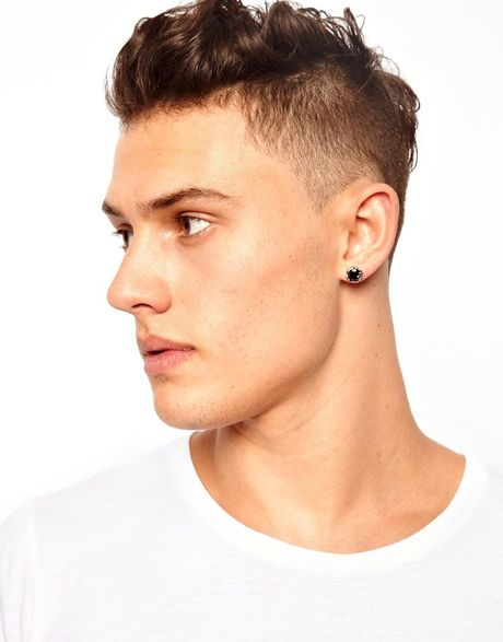 Asos Stud Earring in Silver for Men