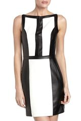 Robert Rodriguez Colorblock Faux Leather Dress - Lyst