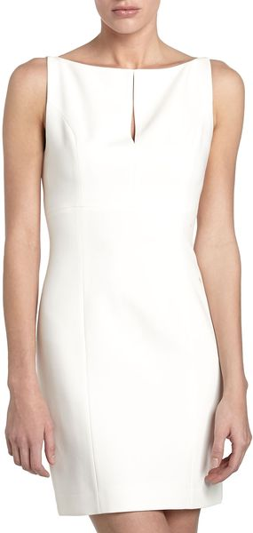 Robert Rodriguez Keyhole Shift Dress Ivory - Lyst