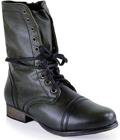 steve madden troopa combat boot in black lyst