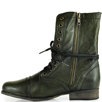 Steve madden Troopa Combat Boot in Green | Lyst