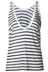 T By Alexander Wang Stripe Burnout Tank - Lyst