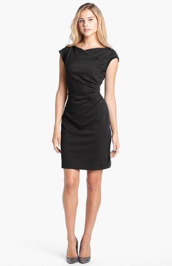 Taylor Dresses Cowl Neck Sheath Dress - Lyst