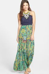 Tbags Los Angeles Embellished Maxi Dress - Lyst