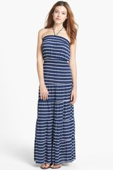 Tbags Los Angeles Stripe Jersey Maxi Dress - Lyst
