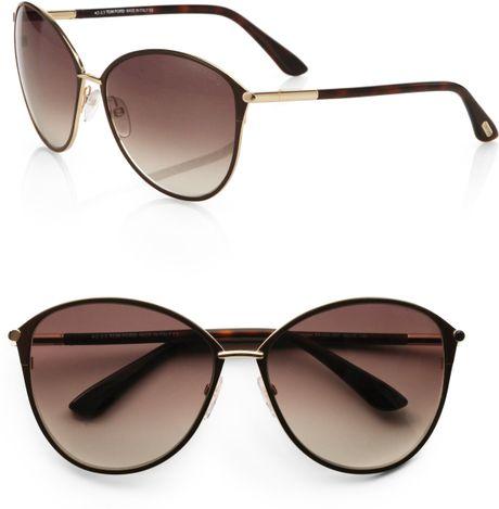 tom ford penelope metal cat 39 s eye sunglasses in gold lyst. Black Bedroom Furniture Sets. Home Design Ideas