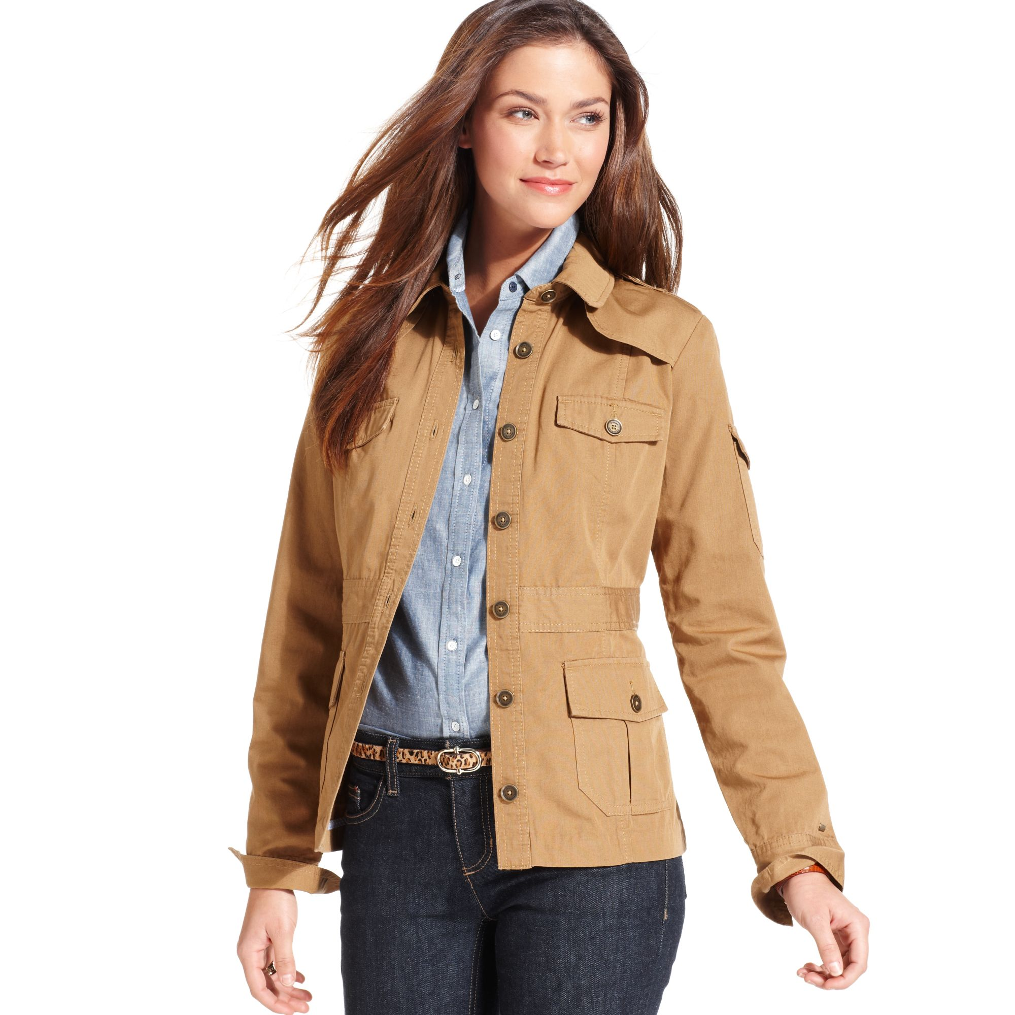 Tommy hilfiger Lightweight Safari Jacket in Natural | Lyst
