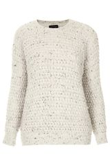 Topshop Knitted Bobble Nep Jumper - Lyst