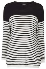 Topshop Maternity Knitted Stripe Jumper - Lyst