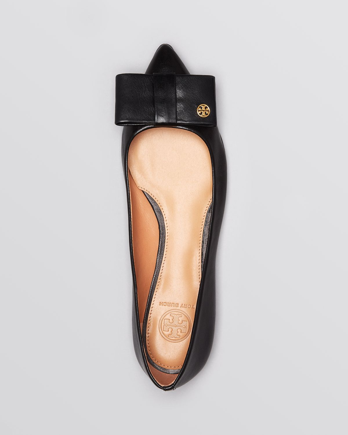 23677422cc4 Lyst - Tory Burch Pointed Toe Flats Aimee in Black