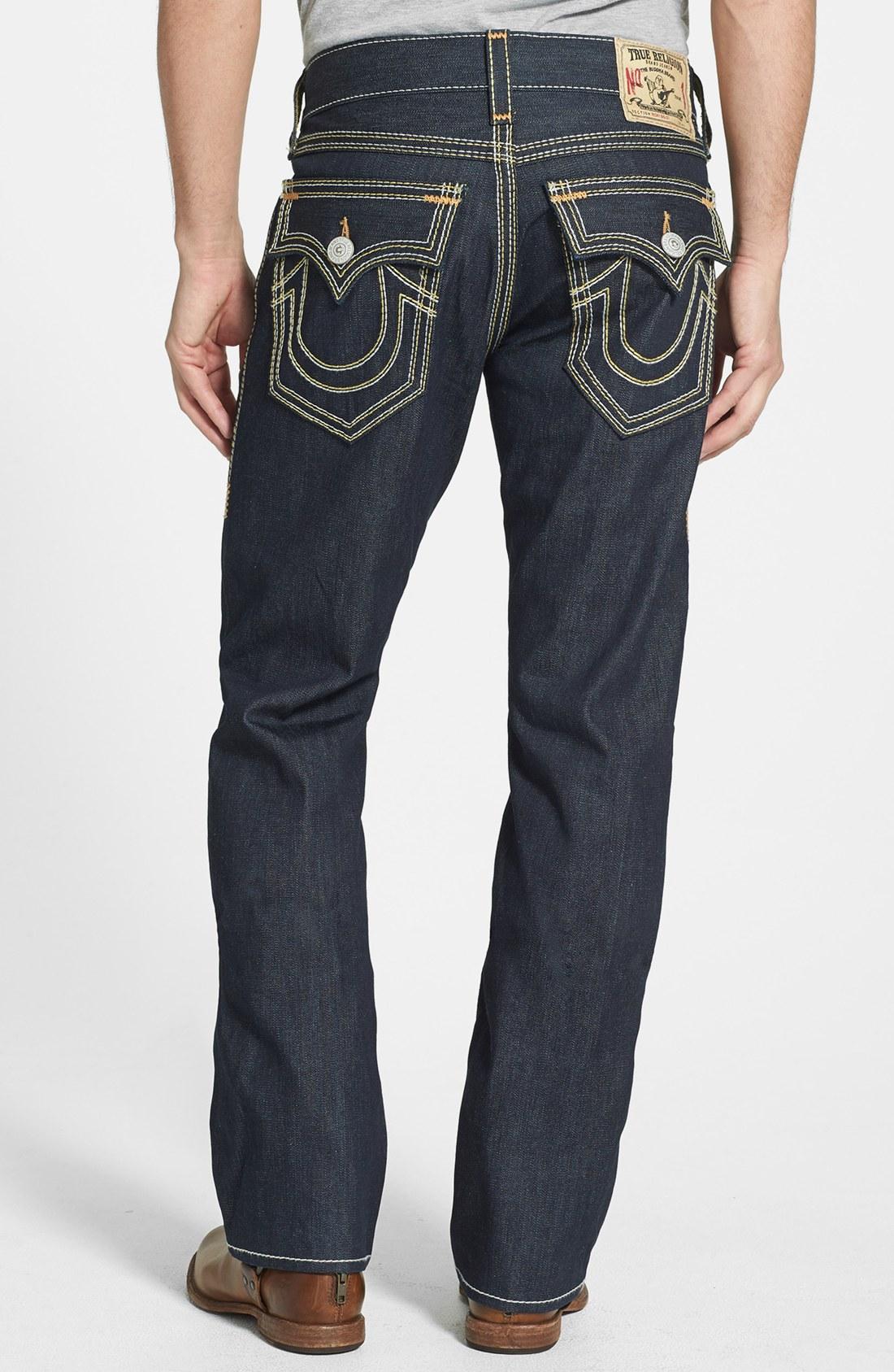 true religion ricky straight leg jeans in blue for men. Black Bedroom Furniture Sets. Home Design Ideas
