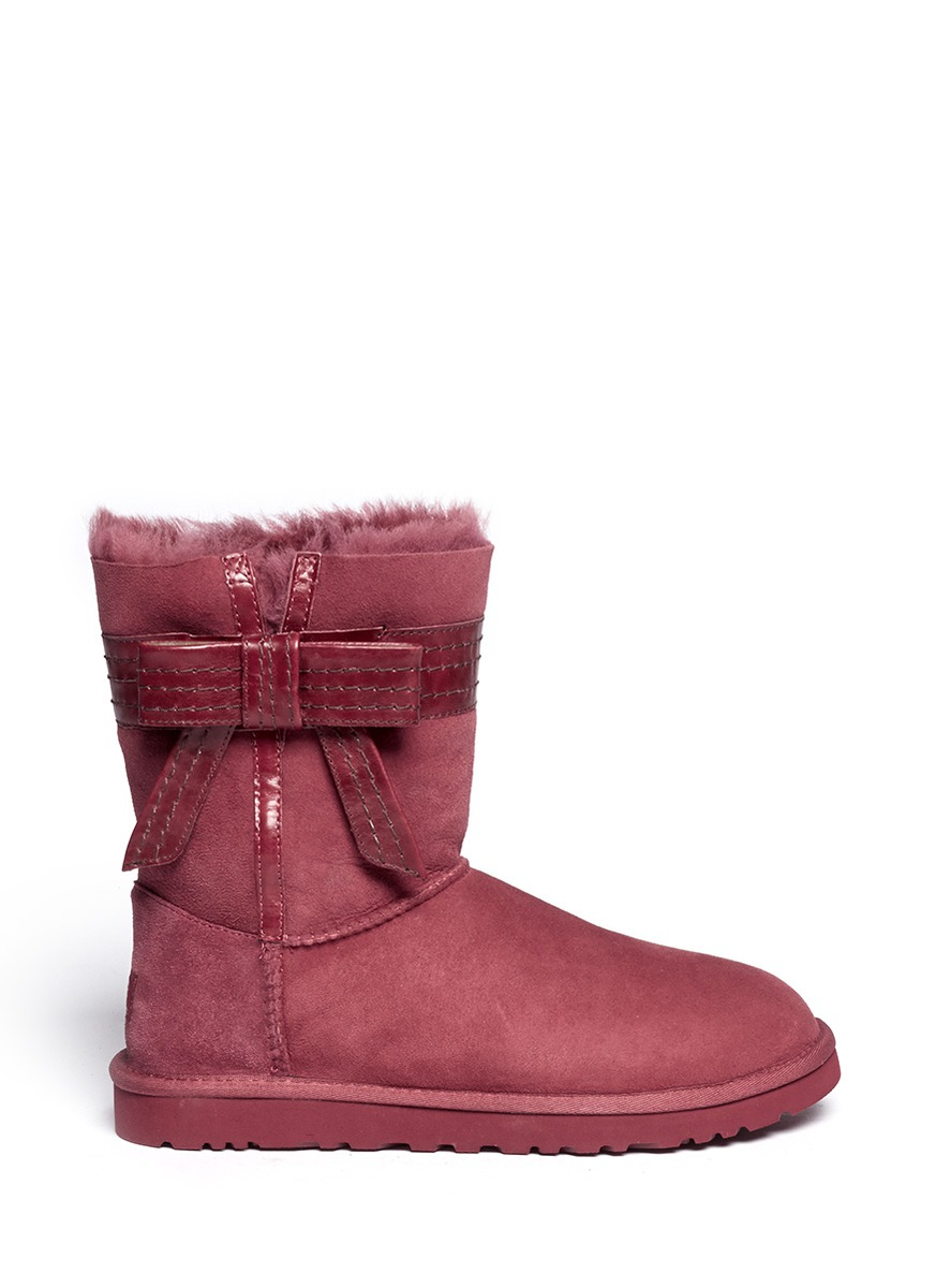 red leather uggs