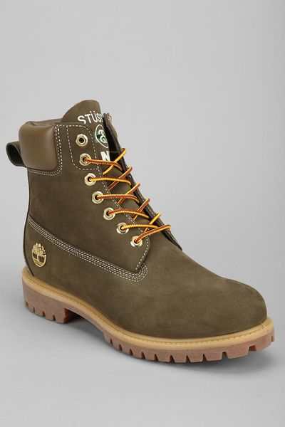 outfitters timberland x stussy boot in green for
