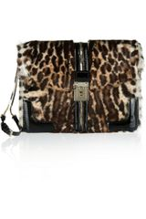 Valentino Leopardprint Calf Hair and Patent Leather Wristlet - Lyst