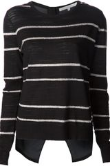 Veronica Beard Metallic Stripe Sweater - Lyst