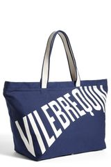 Vilebrequin Logo Large Canvas Beach Tote - Lyst