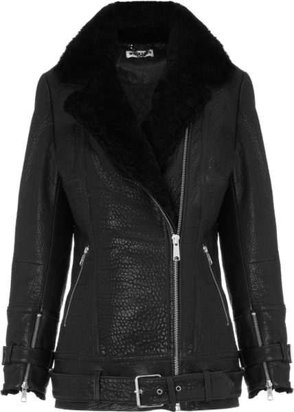 Ellen Tracy A-Line Leather Jacket For Women | Caxaa
