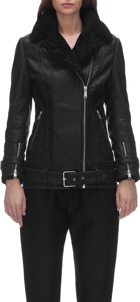 Whistles Lennox Long Line Leather Jacket in Black | Lyst