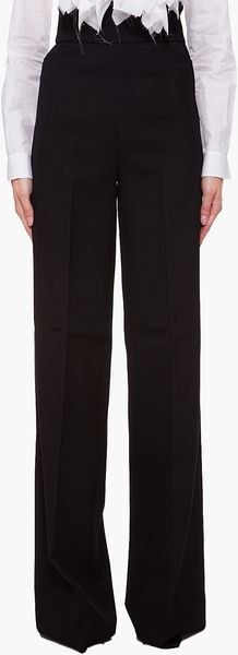 Yves Saint Laurent Wide Leg Trousers - Lyst