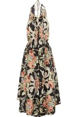 Zimmermann Keeper Floral Print Silk Dress - Lyst