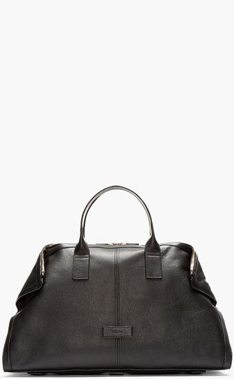 Alexander McQueen Black Leather De Manta Carry All Tote - Lyst