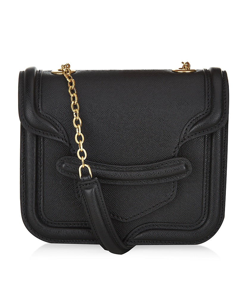 Alexander Mcqueen Mini Heroine Shoulder Bag in Black (gold ...