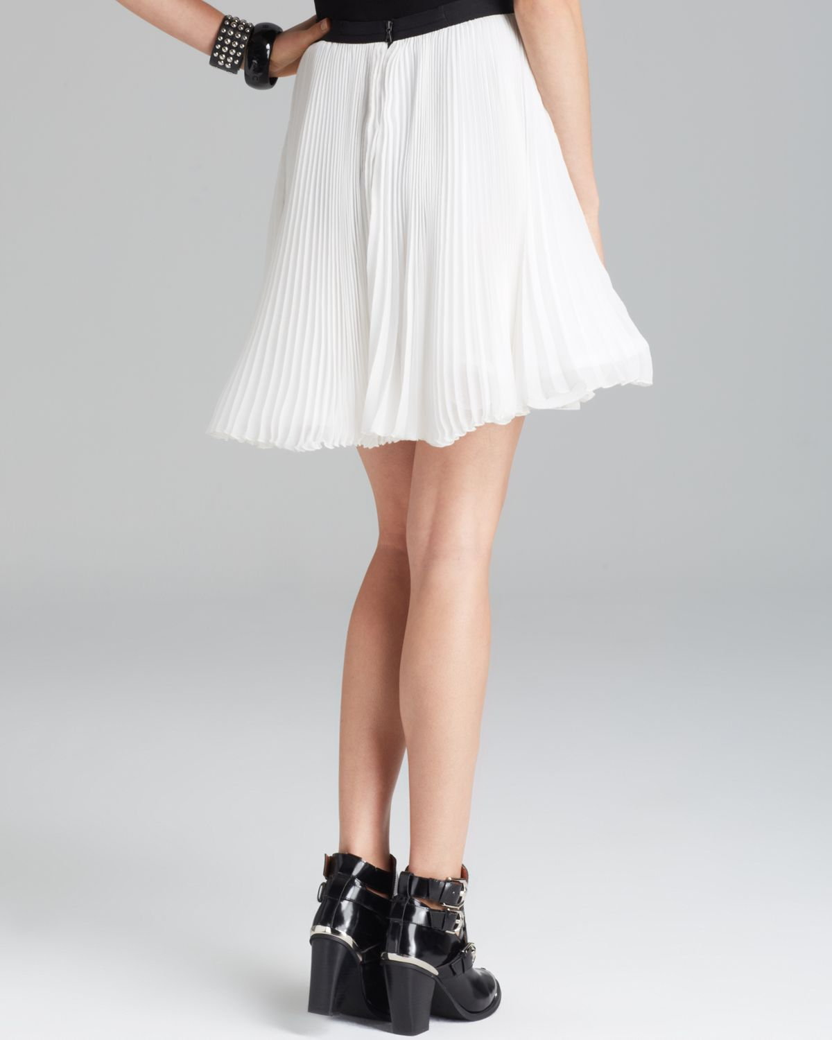 Alice   olivia Alice Olivia Skirt Shea Flowy Flare Pleated in ...