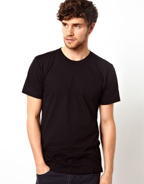 American apparel t shirt in black for men lyst for American apparel custom t shirts